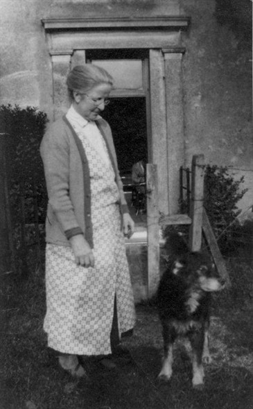 Photo:Beatrice Holford at Newhouse Farm, Ovingdean with Silvo the dog